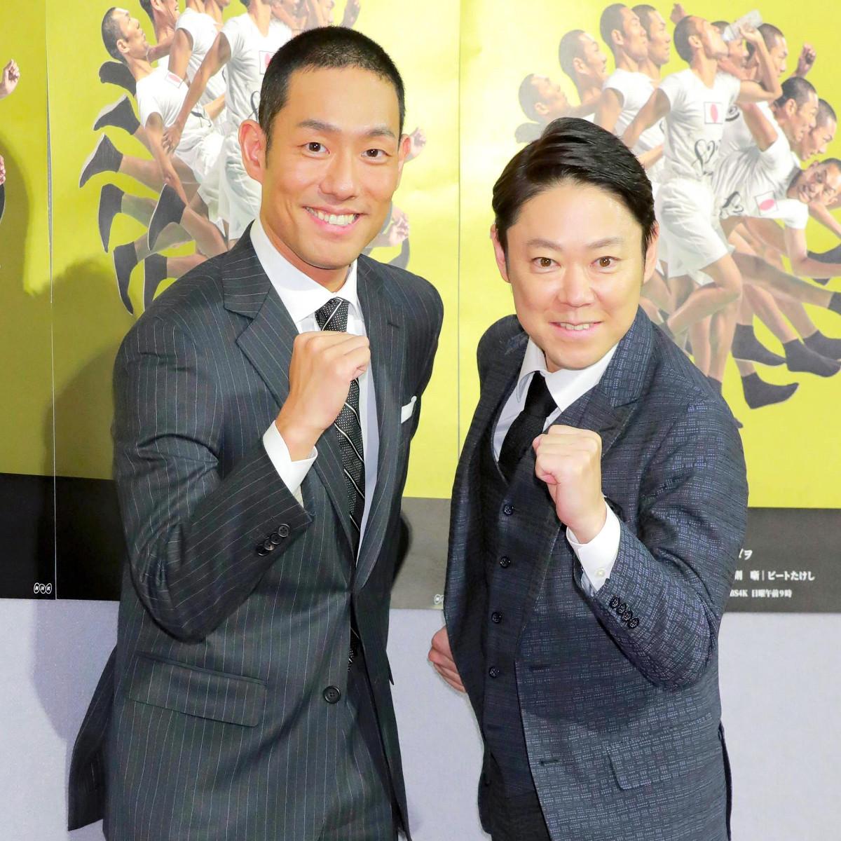 「だてん」主演の中村勘九郎(左)と阿部サダヲ
