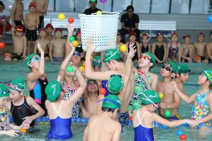 2019スポーツ報知ジュニアスイミングフェスティバルの様子