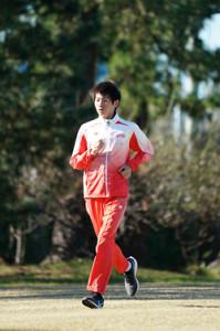 練習を公開したマラソンの中村匠吾