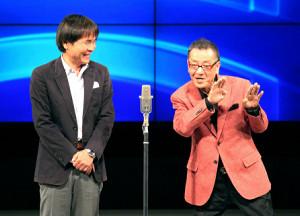 亡くなったWヤングの平川幸男さん(右)と相方の佐藤武志