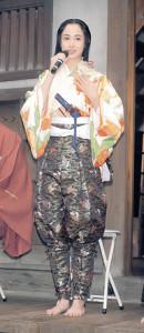 「麒麟がくる」のクランクインで、抱負を語った沢尻エリカ容疑者(19年6月4日撮影)