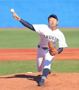 6回から登板した中京大中京2番手の高橋宏