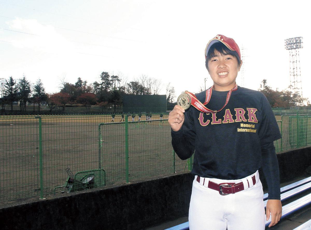 女子野球のアジアカップで日本代表の2連覇に貢献した小野寺(カメラ・遠藤 洋之)