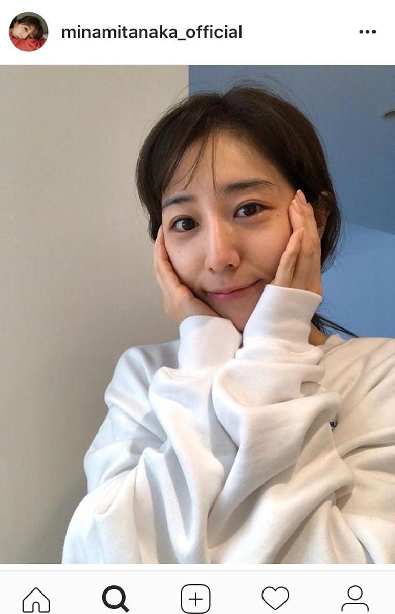 """田中みな実、""""すっぴん""""のレアショットを公開「赤ちゃんみたい ..."""