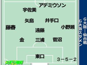 G大阪布陣図