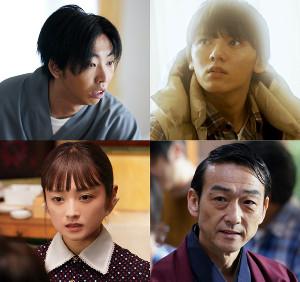 「死役所」にゲスト出演する柄本時生(左上)、浜田龍臣(同右)、安達祐実(左下)、吹越満(右下)(C)テレビ東京