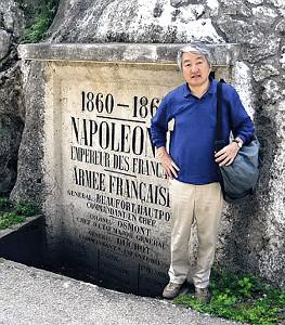 経済小説を執筆するためにレバノン・ベイルートに取材に訪れた黒木さん(本人提供)