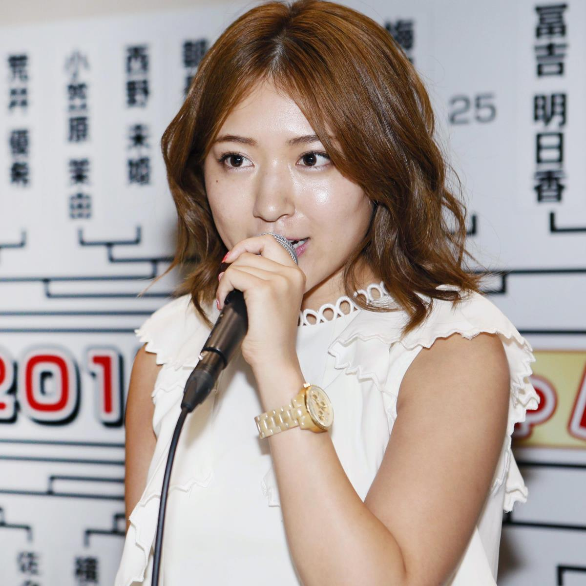 2015年にAKB48卒業を発表した内田眞由美