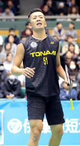 今年の全日本総合選手権で男子シングルス準Vに終わった西本拳太。五輪出場へ追い上げを図る