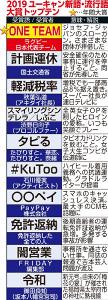 2019流行語大賞トップテン