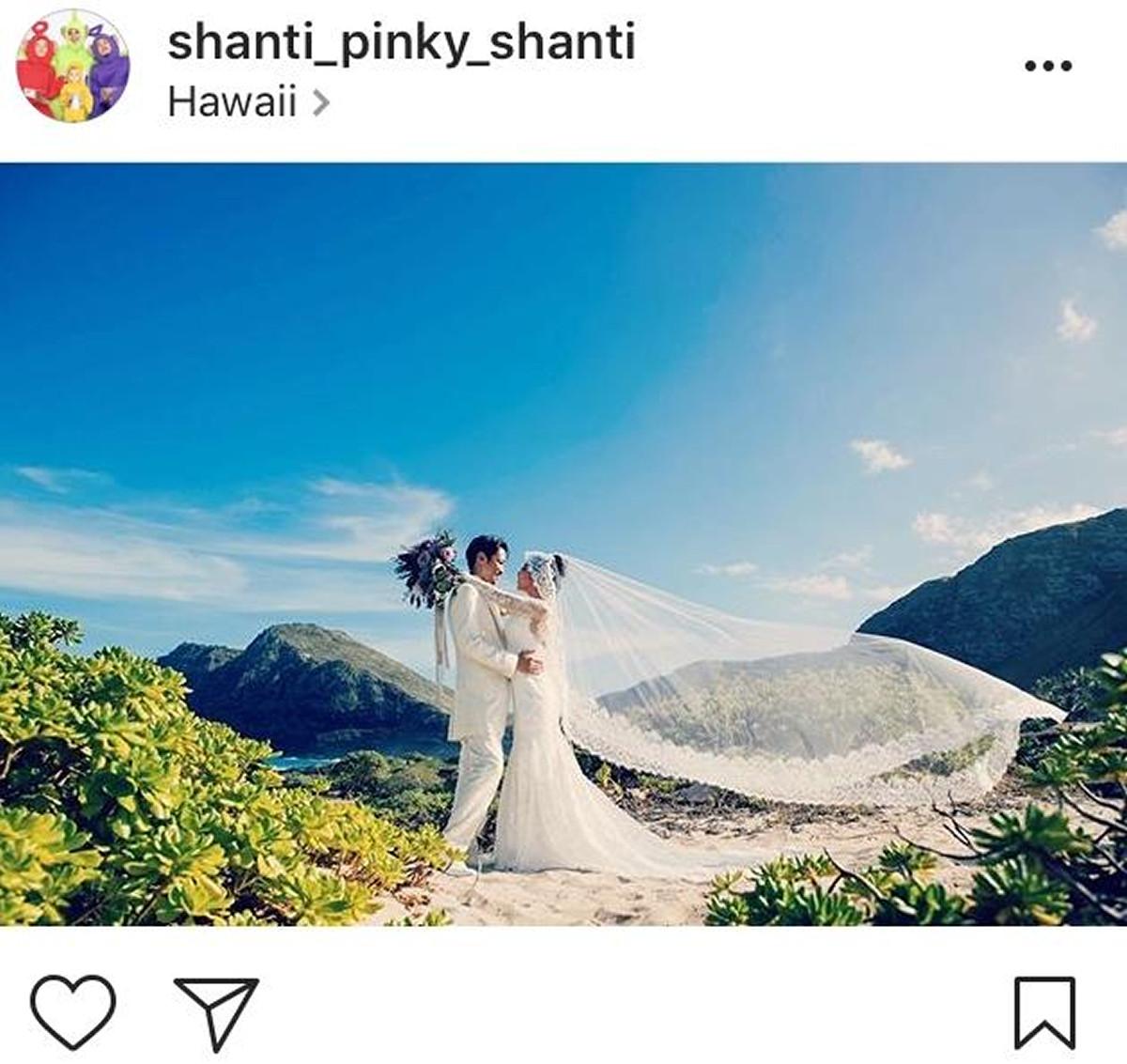 インスタグラムより@shanti_pinky_shanti