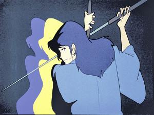 斬鉄剣を構える石川五ェ門(原作:モンキー・パンチ(C)TMS)