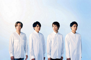 主演ドラマが舞台化される(左から)千賀健永、二階堂高嗣、宮田俊哉、横尾渉