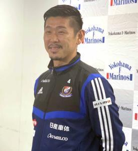 現役引退を発表した横浜Mの栗原勇蔵