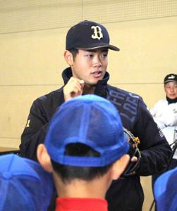 地元・奈良で野球教室に参加した太田