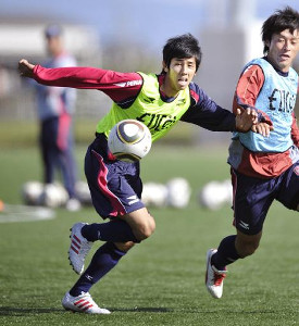 2010年、岡山に入団。初めてチームに合流した際の久木田紳吾