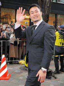 パレードした福岡堅樹らラグビー日本代表選手