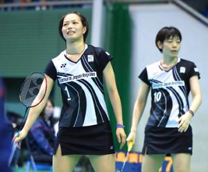 福島由紀(左)・広田彩花ペア
