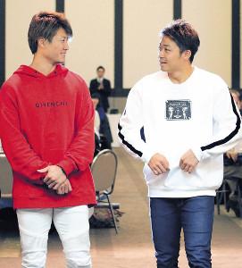 札幌市内でトークショーに出演した中島(右)と西川
