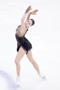 GPファイナル女子フリーで演技したアリーナ・ザギトワ