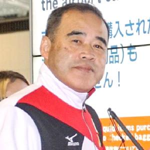 男子代表監督(専務理事)の遠藤義安氏