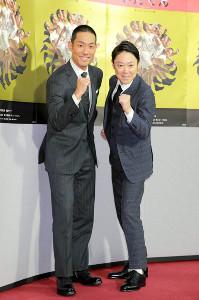 「いだてん」の2人の主人公・金栗四三を演じた中村勘九郎(左)と田畑政治を演じた阿部サダヲ