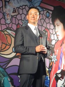 ボートレース住之江でトークショーを行った金本さん