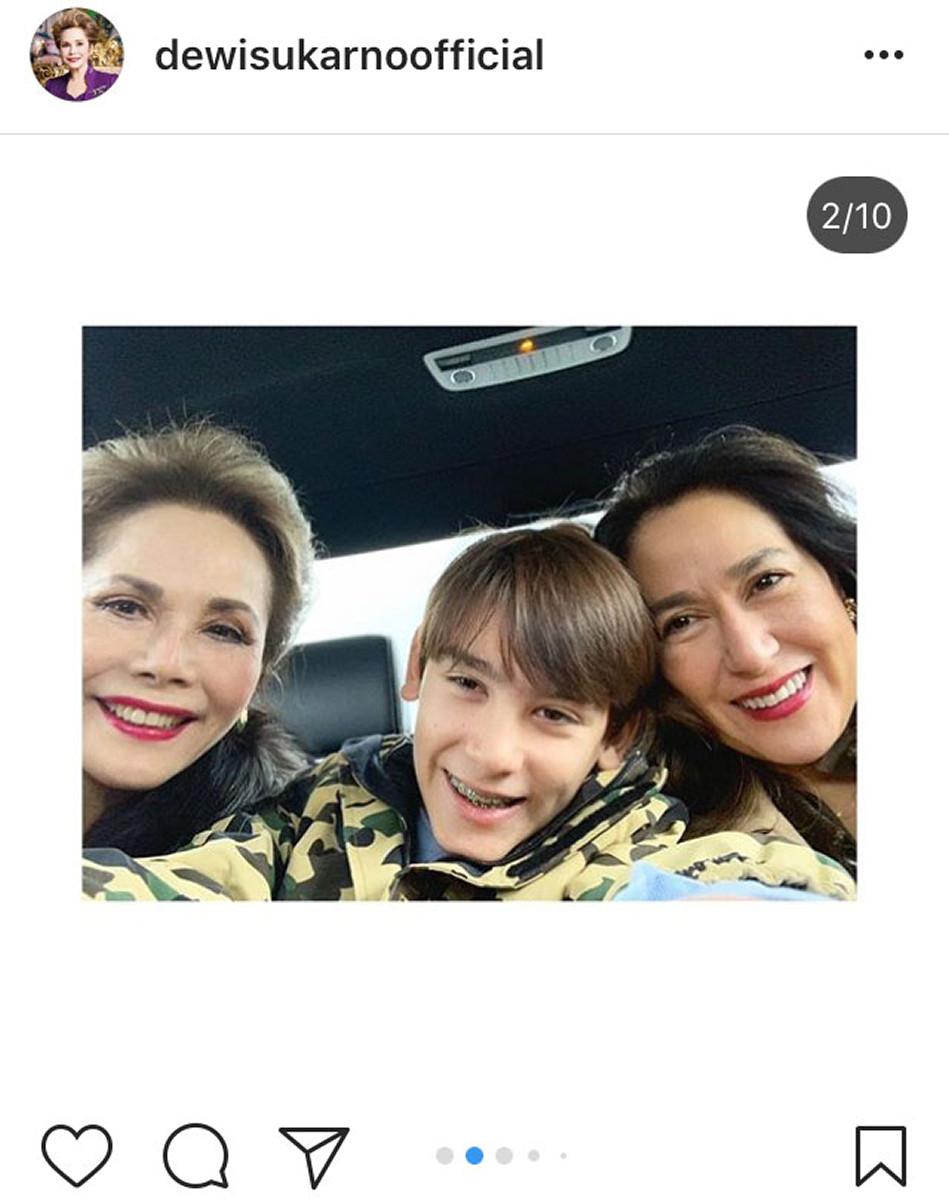 デヴィ夫人、娘&孫と家族3ショット公開「お孫さんがイケメン