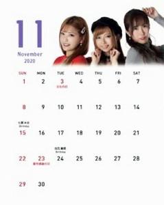 大城杏さんが担当した2020年11月のカレンダー
