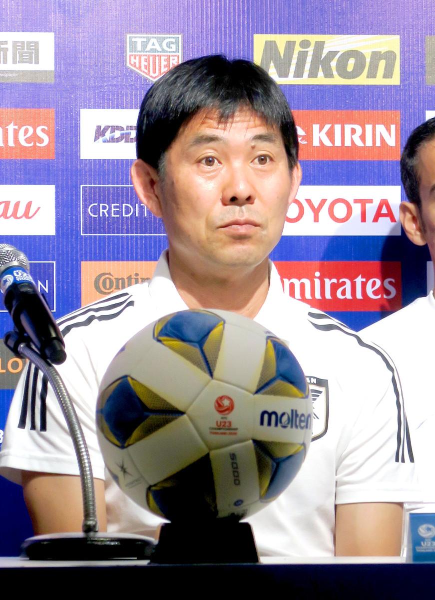 U-23アジア選手権の公式会見に出席したU-23日本代表の森保一監督
