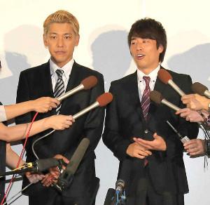 ロンドンブーツ1号2号の田村亮(左)と田村淳