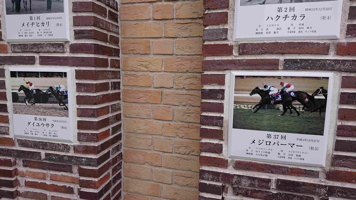 中山競馬場のグランプリガーデン。92年からオーバーシードされた芝なのが分かる
