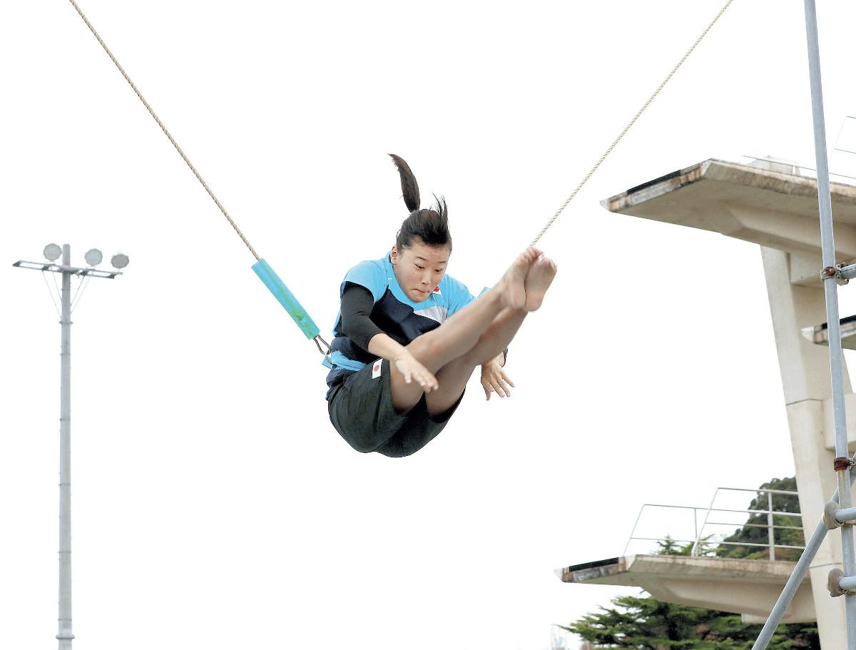 女子板飛び込み・三上紗也可「1番目がいい」大けが乗り越え鳥取県民初の金メダルへ