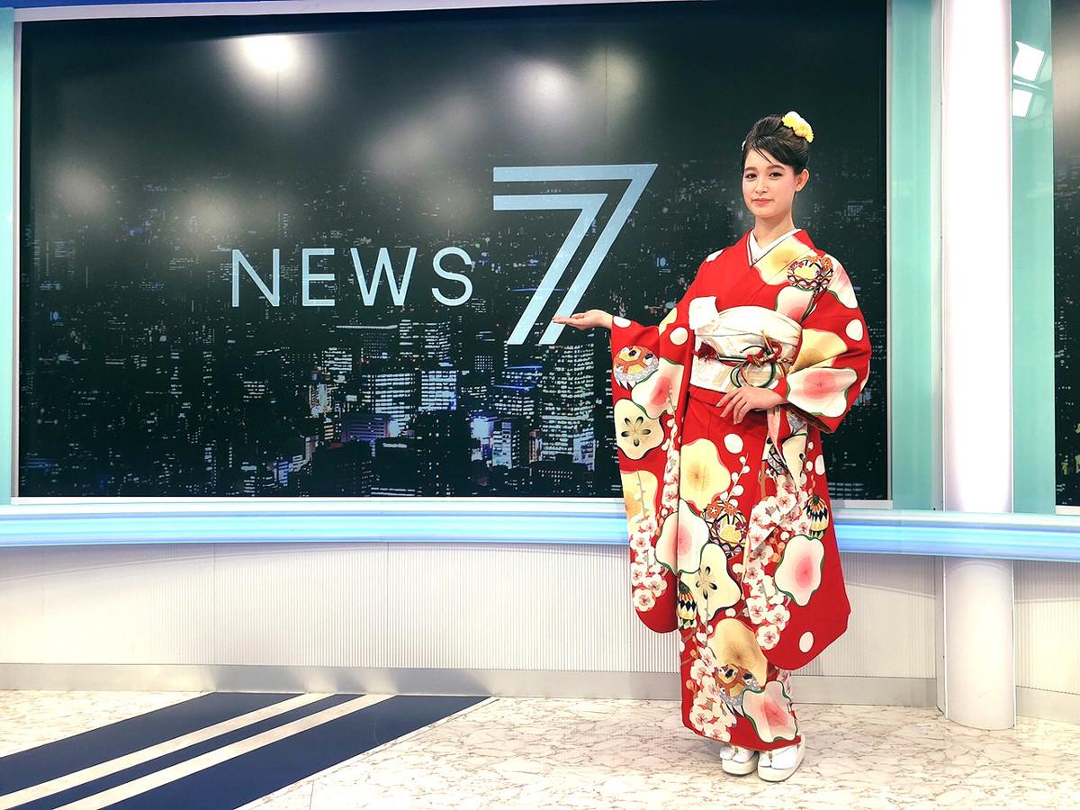 トラウデン直美「ニュース7」で披露した晴れ着姿に「美しすぎる。コメントも的確」と感嘆の声