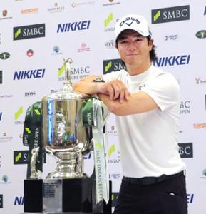 国内男子プロゴルフツアー開幕戦のSMBCシンガポールオープンの公式会見に出席した石川遼