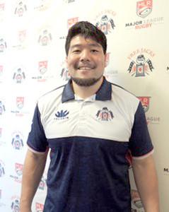 日本人会主催の新年会に参加した畠山健介