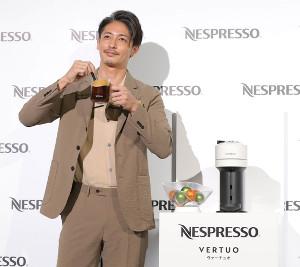 ネスプレッソの新コーヒーメーカーをPRした玉木宏