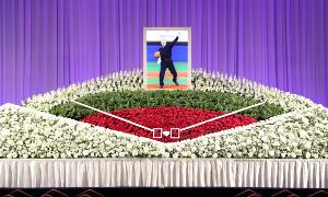金田正一さんお別れの会の祭壇