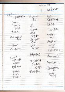 宍戸さんの熱気に圧倒され殴り書きになった取材ノート。「サダム・フセイン子」の文字が確認できる