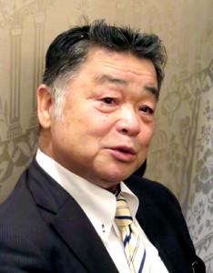阪神の川藤OB会長が甲子園歴史館の運営会議後に取材に応じた