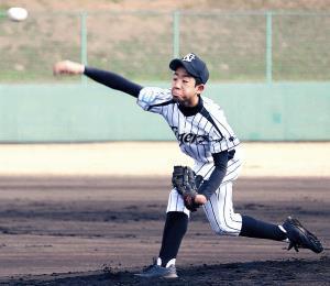 緩急の効いた投球で勝利に貢献したナガセA・小野坂