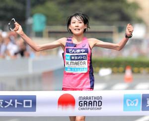 昨年9月のMGCで優勝。東京五輪出場が内定した前田穂南