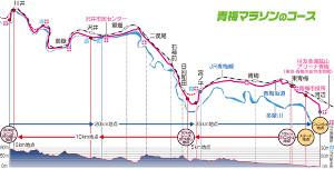 青梅マラソンのコース図