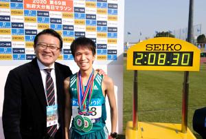 瀬古利彦リーダー(左)と青学大・吉田祐也