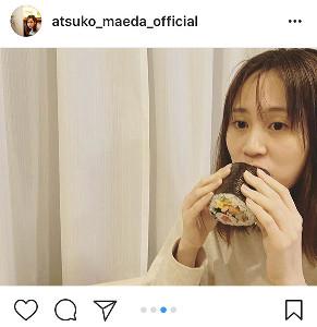 インスタグラムより@atsuko_maeda_official