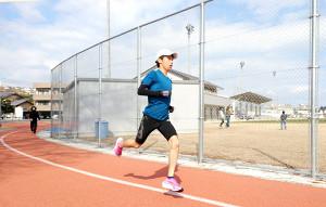 別大マラソンに向けて単独で前日練習を行った青学大の吉田祐也
