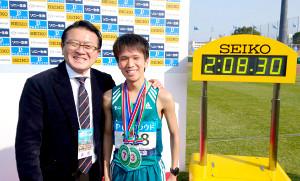 別大マラソンで日本学生歴代2位の好記録をマークした吉田祐也(右)。日本陸連・瀬古リーダーもその潜在能力を高く評価した