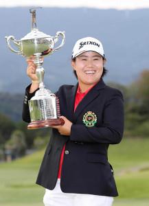 昨年の日本女子オープンで優勝した畑岡奈紗