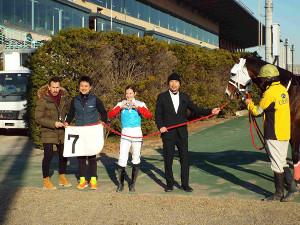 船橋競馬デビューを果たしたミカエル・ミシェル騎手は4Rのゴールドエーカーで勝利を挙げた