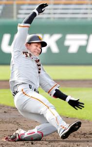 5回1死二、三塁、吉川大が2点適時三塁打。勝負強さをアピールした